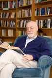 Senior Man Reading Stock Photo