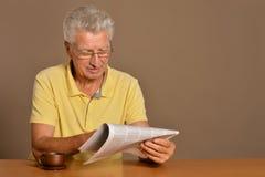 Senior man reading Royalty Free Stock Image