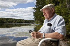 Senior man relaxing Stock Photo