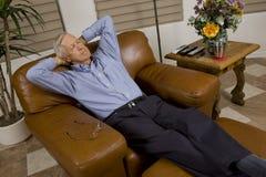 Senior man relaxing royalty free stock image