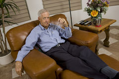 Senior man relaxing Stock Images