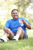 Senior Man Relaxing After Exercise Stock Image
