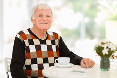 Senior man relaxing Stock Image
