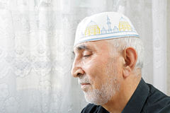 Senior man in religious hat Stock Photos