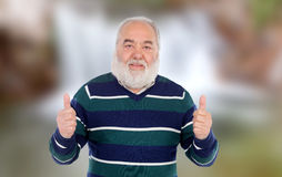 Senior man saying Ok Royalty Free Stock Photos