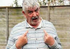 Senior man saying no not me. Royalty Free Stock Image