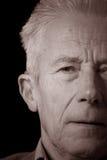 Senior man in sepia portrait Royalty Free Stock Image