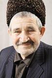Senior man in shipskin hat Royalty Free Stock Photo