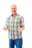 Senior man shouting in frustration Stock Image