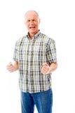 Senior man shouting in frustration Stock Image