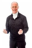 Senior man shouting in frustration Royalty Free Stock Photography