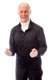 Senior man shouting in frustration Stock Images
