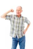 Senior man showing off his muscle Royalty Free Stock Images