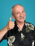 Senior man showing ok sign Stock Images