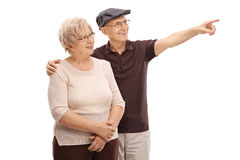 Senior man showing something to his wife Royalty Free Stock Photo