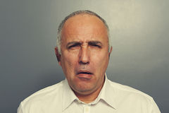 Senior man with silly expression Royalty Free Stock Photos