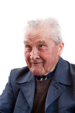 Senior man smiling Stock Photography