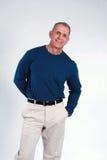 Senior man smiling Stock Image