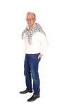 Senior man standing full length. Royalty Free Stock Image