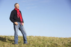 Senior Man Standing In Park Stock Image