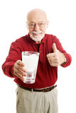 Senior Man Stays Hydrated - Water Royalty Free Stock Images