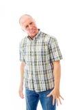 Senior man sticking out his tongue Royalty Free Stock Image