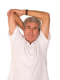 Senior man stretching Stock Photos