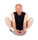 Senior man. Stretching Stock Image