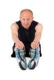 Senior man. Stretching Royalty Free Stock Photo