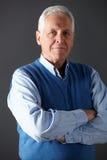 Senior man studio portrait Stock Photography