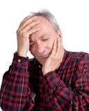 Senior man suffering from a headache Royalty Free Stock Photography