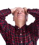 Senior man suffering from a headache Stock Photography