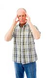 Senior man suffering from headache Royalty Free Stock Photo