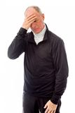 Senior man suffering from headache Stock Photos