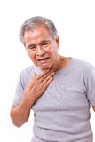 Senior man suffering from sore throat Royalty Free Stock Images