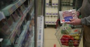 Senior man doing food shopping