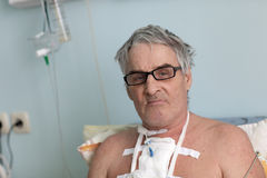 Senior man after surgery Royalty Free Stock Photography