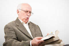 Senior man surprised Royalty Free Stock Photo
