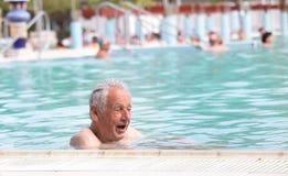 Senior man in swimming pool Royalty Free Stock Photography