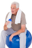 Senior man taking a break from exercise Stock Photography