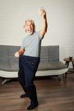 Senior Man Taking Selfie, Showing Her Weight Loss Royalty Free Stock Photo