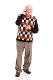 Senior man talking phone Royalty Free Stock Photography