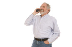 Senior Man on Telephone Stock Photography