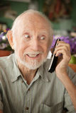 Senior man on telephone royalty free stock photo