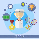 Senior Man Tennis Player Icon Royalty Free Stock Photos