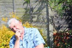 Senior man thinking. Stock Photos