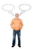 Senior man thinking Royalty Free Stock Image