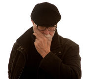 Senior man thinking Stock Image