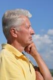 Senior man thinking Royalty Free Stock Image