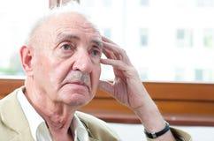 Senior man thinking about something Stock Photography